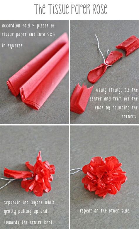 Roses With Tissue Paper - do it yourself tissue paper flowers 171 paper jewels
