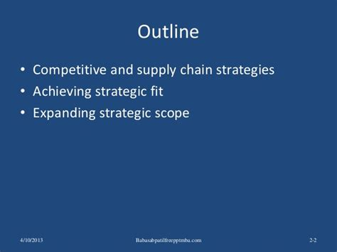 Supply Chain Management Pdf Mba by Supply Chain Performance Achieving Strategic Fit And Scope