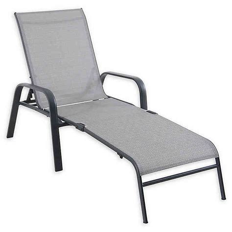 sling chaise lounge chairs never rust sling chaise lounge chair in grey bed bath