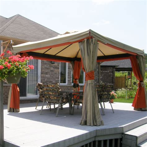 Gazebos For Patios Attractive Patio Gazebo Canopy Designs For An Inviting Outdoor Space Ideas 4 Homes