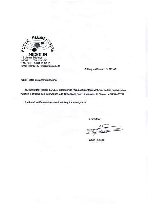 Exemple De Lettre De Recommandation Stagiaire Lettre De Recommandation Valeur Document