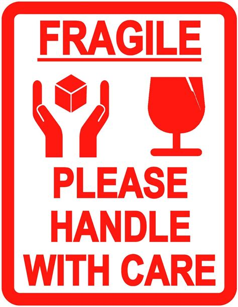 shipping label fragile handle with care 500pcs lot fragile handle with care self adhesive
