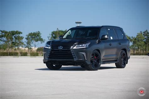 lifted lexus lx 570 lexus lx 570 gets murdered out look and vossen wheels