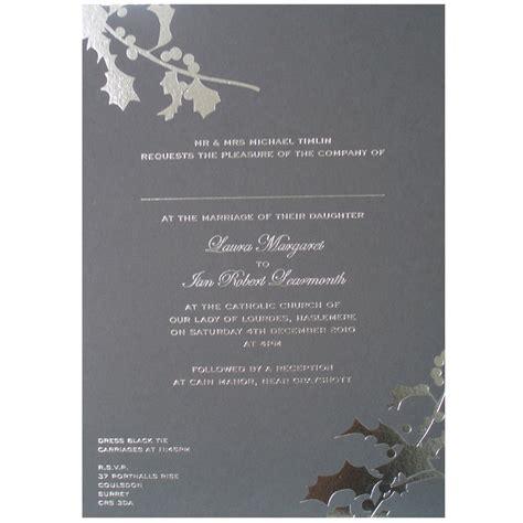 grey and white wedding invitations uk winter grey silver wedding invitation gallery