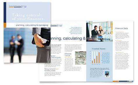 Financial Planning Consulting Brochure Template Word Publisher Financial Services Brochure Template Free