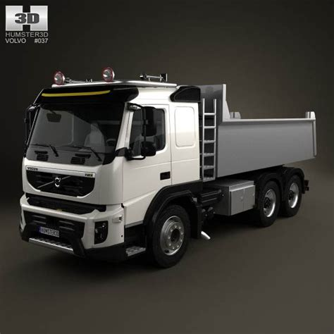 volvo semi models volvo fmx tipper truck 2010 3d model from humster3d com
