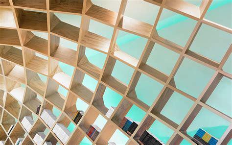 designboom com anagrama installs a domed bookshelf inside a monterrey library