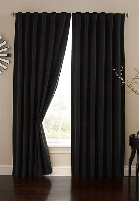 black theater curtains absolute zero velvet blackout home theater curtain panel 84 inch black black ebay