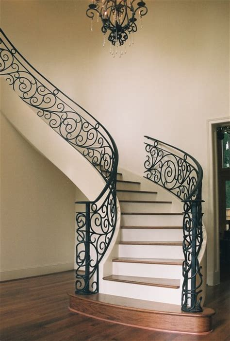 Fleur De Lis Home Decor Cheap by Custom Wrought Iron Traditional Staircase Houston