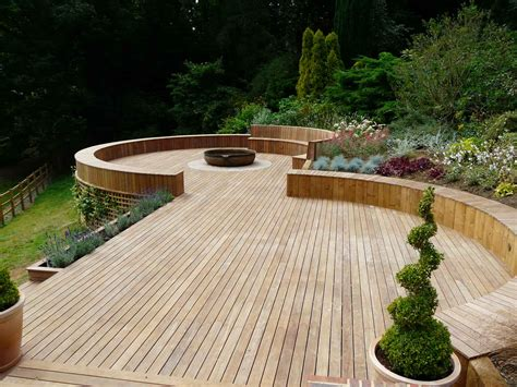 Decking Garden Ideas Timber Decking Godalming Surrey Pc Landscapes