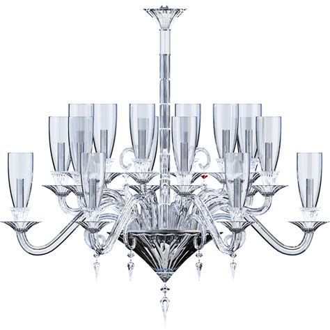Hurricane L Chandelier Cad And Bim Object Mille Nuits Chandelier 18l Hurricane Shade Holders Baccarat