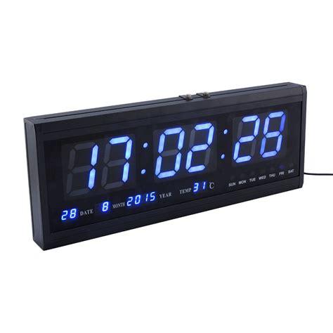 large led desk l large jumbo digital led wall clock desk alarm calendar