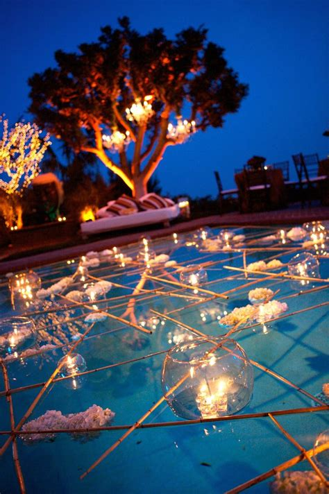 Backyard Pool Wedding Ideas Pin By Storey On Back Yard Weddings Pinterest