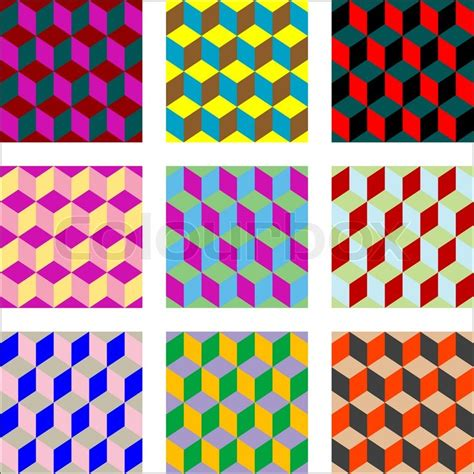 pattern art simple nine different versions of psychedelic patterns art