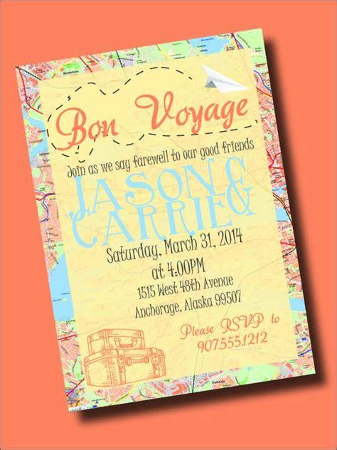 bon voyage going away invitation