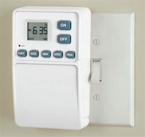 timer for lights light switch timer shuts at set times 187 coolest gadgets