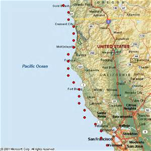 northern california coastline map map of northern california oregon coast pictures to pin on
