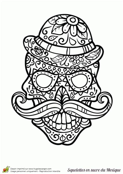 Coloriage Tete De Mort Mexicaine Coloriages Store Tete De Mort En Sucre Mexicaine A Colorier L