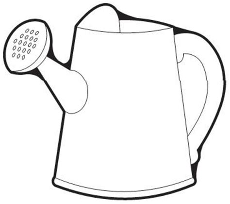 coloring page water can watering can coloring