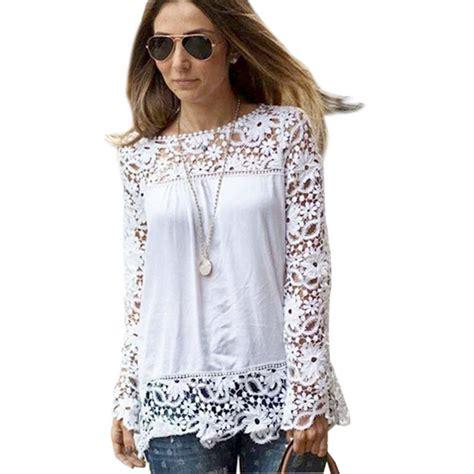 Black Lace Flower S M L Blouse 40708 sleeve plus size blouses mexican blouse