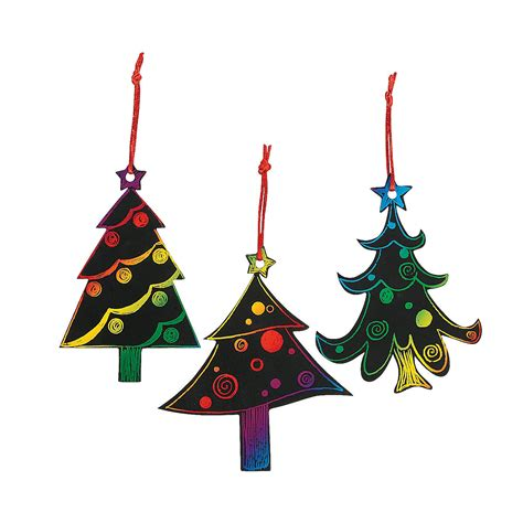 magic color scratch christmas tree ornaments oriental