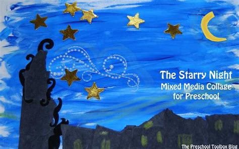 Painting Ideas For Kids starry night by vincent van gogh for playfulpreschool