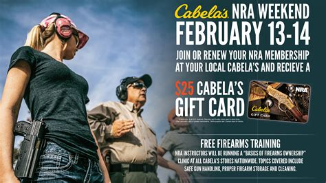 Cabela S Gift Card Locations - nra weekend offers free firearm training at cabela s locations february 13 14