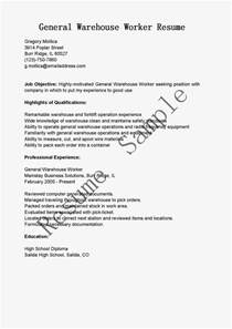 Warehouse Worker Resume Examples Resume Samples General Warehouse Worker Resume Sample