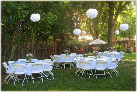 Backyard Reception Ideas Simple Backyard Wedding Decorations Home Design