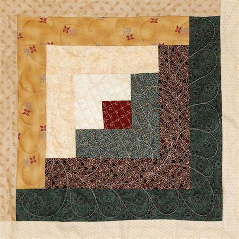 log cabin block bicentennial quilt square flickr