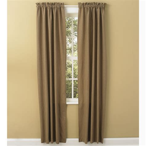 drapery panels 84 sturbridge patch wine or black ticking drapery panels by