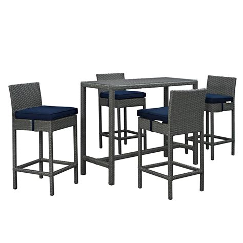 Patio Bar Height Dining Set Modway Sojourn 5 Outdoor Patio Bar Height Dining Set Free Shipping