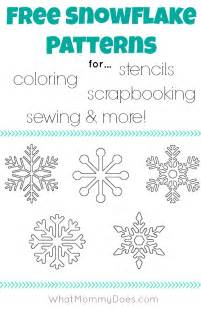 snowflake stencil template free printable snowflake templates large small stencil