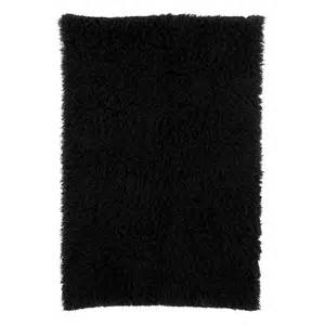 black rug la rugs flokati black shag rug flk 007