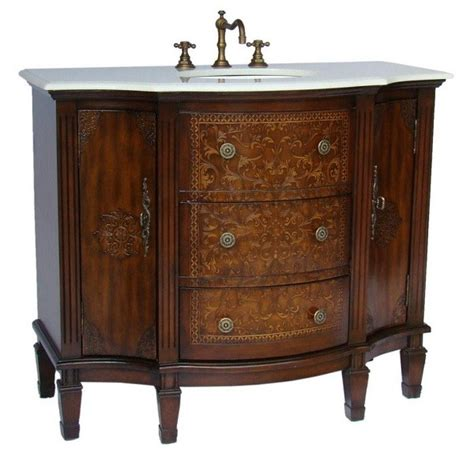 brown bathroom vanity chans furniture hf1214w algaringo 42 inch brown bathroom