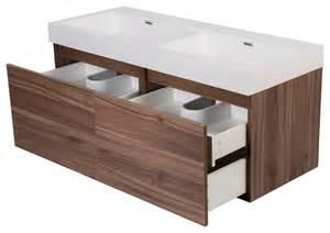 47 quot tephra modern wall hung sink bathroom vanity
