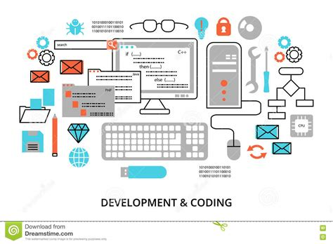 simple pattern development and production infographic of development and production process cartoon