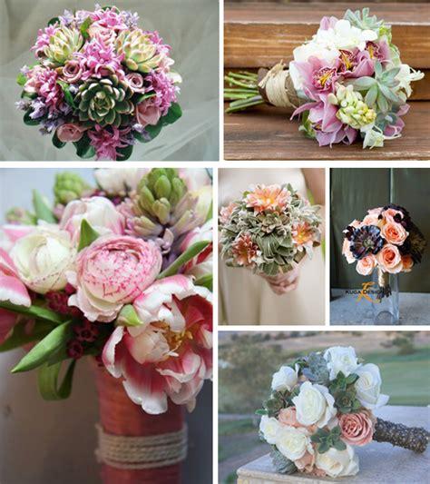 Wedding Bouquets Using Succulents succulents primadonna