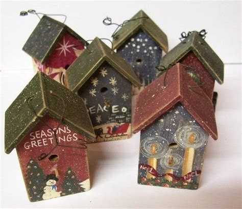 84 best christmas birdhouse images on pinterest