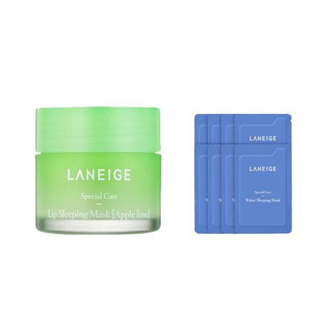 Harga Laneige Mask jual laneige apple lime lip sleeping mask set