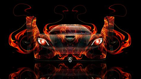 koenigsegg fire koenigsegg agera open doors fire abstract car 2014 el tony
