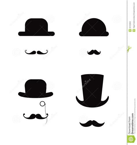 moustache stock images royalty free images vectors hat and moustache icon set stock vector illustration of design 33722850