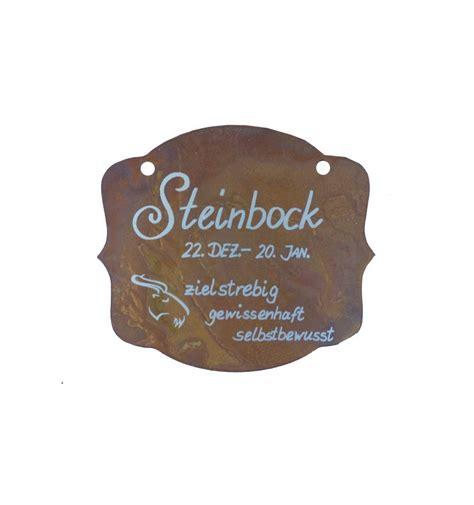 sternzeichen steinbock wann bis wann rostschild sternzeichen quot steinbock quot 13 x 11 cm 22