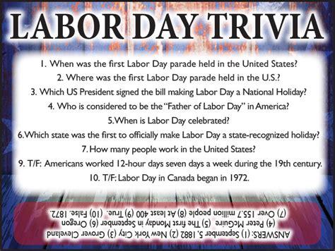 day trivia labor day trivia jamestown gazette