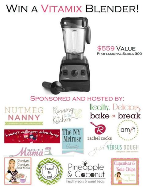 Blender Giveaway - vitamix blender giveaway chocolate chocolate and more
