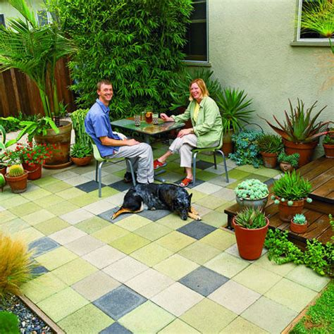 cheap patio idea sunset
