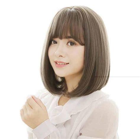 ombre model rambut pendek trend warna rambut  model