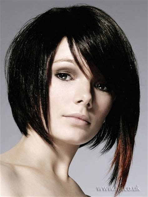 how to cut the perfect asymmetrical bob on thick hair asymmetrical bob hair short hair pinterest bobs bob