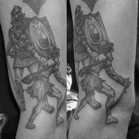 david and goliath tattoo 30 david and goliath designs for manly ideas