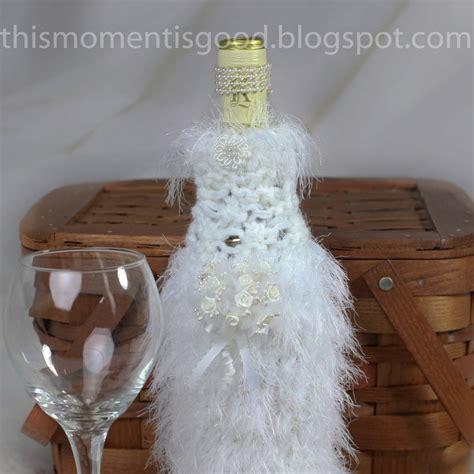 Wedding Gift Knitting Patterns by Loom Knit Wine Bottle Cover Pattern Groom 2